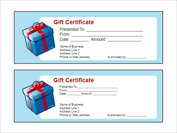 Gift Certificate Template - 32+ Examples In Pdf, Word In Design