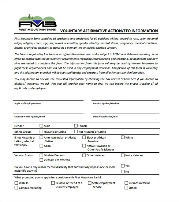 Affirmative Action Plan Template u2013 7+ Free Sample, Example, Format - plan of action format