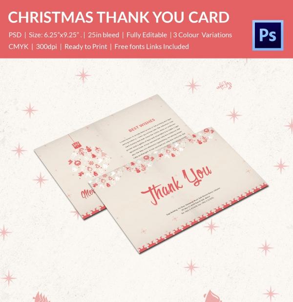 30+ Christmas Thank You Card Templates - Free PSD, EPS, JPEG Format