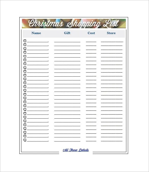 Free Shopping List Template, grocery list best 25+ grocery lists - christmas list format