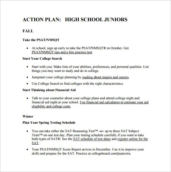 School Action Plan Template  NodeCvresumePaasproviderCom