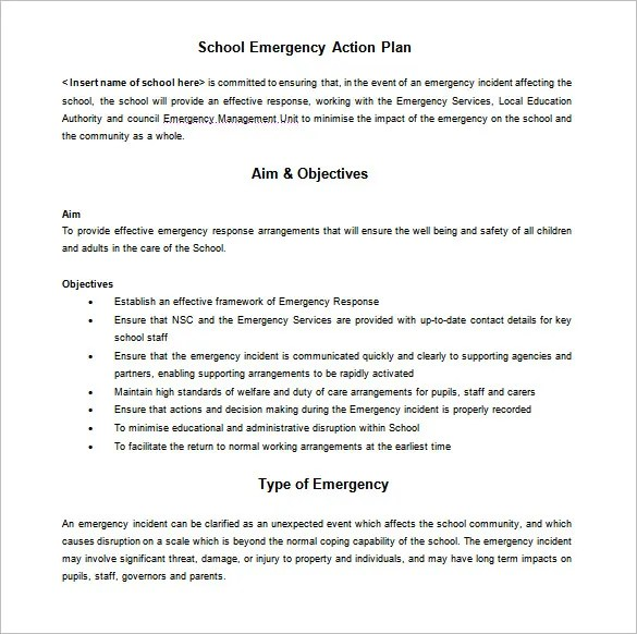11+ School Action Plan Templates - Word, PDF Free  Premium Templates