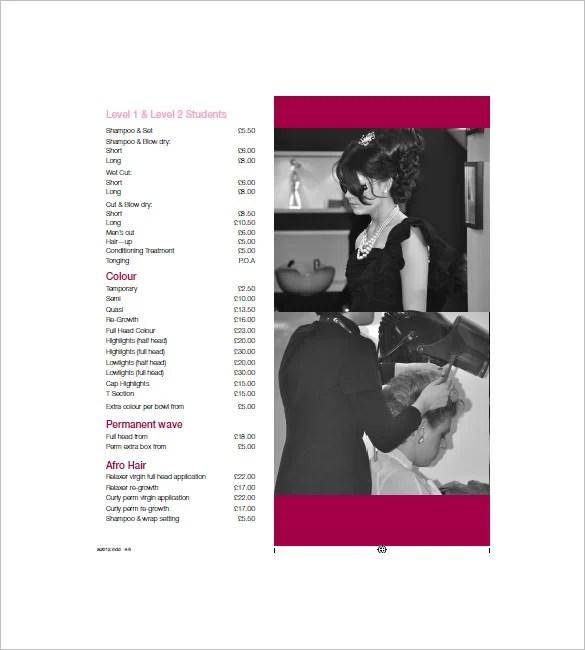 Price List Template \u2013 11+ Free Word, Excel, PDF Format Download