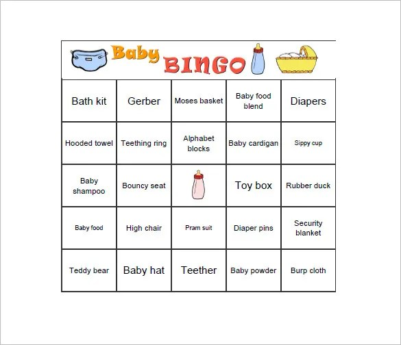 Baby Shower Gift List Template \u2013 8+ Free Word, Excel, PDF Format