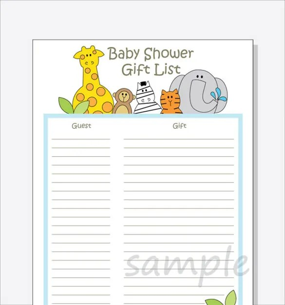 Baby Shower Agenda Template  EnvResumeCloud