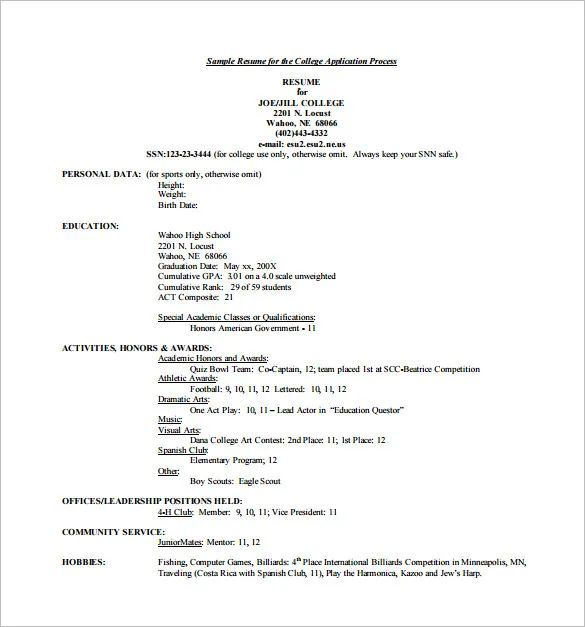 resume templates for college students for microsoft word