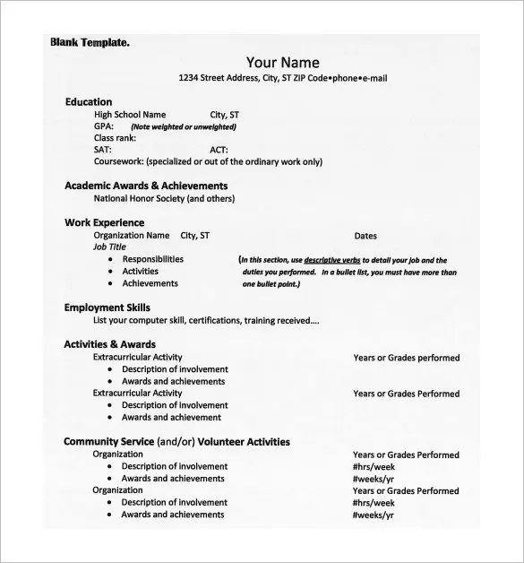 College Resume Template - 13+ Free Word, Excel, PDF Format Download - college resumes