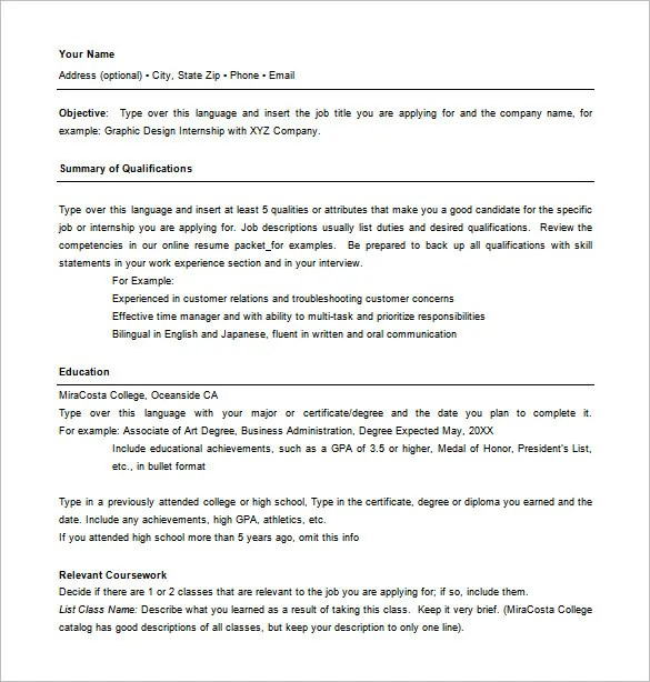 Combination Resume Template - 9+ Free Word, Excel, PDF Format - Achievements For Resume