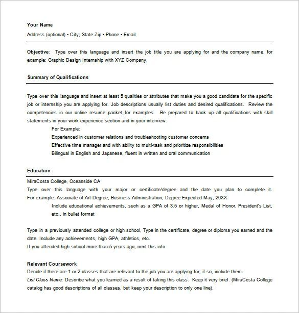 microsoft word combination resume template