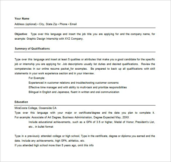 Combination Resume Template - 9+ Free Word, Excel, PDF Format