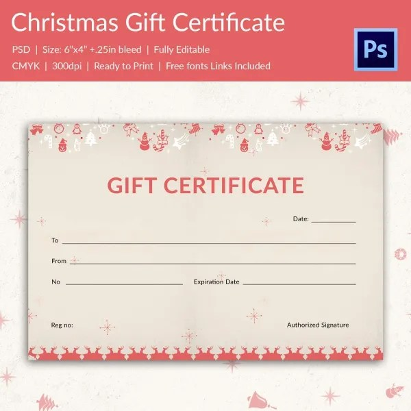 Christmas Gift Certificate Templates - 21+ PSD Format Download - christmas gift certificates templates