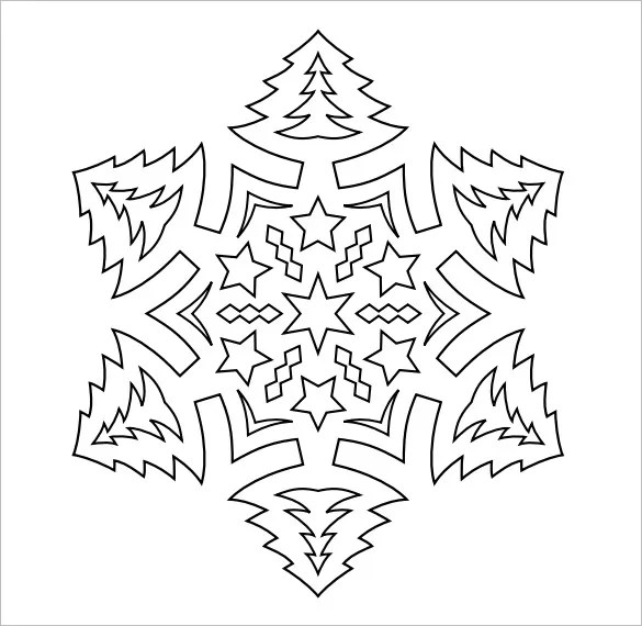Snowflake Templates \u2013 49+ Free Word, PDF, JPEG, PNG Format Download