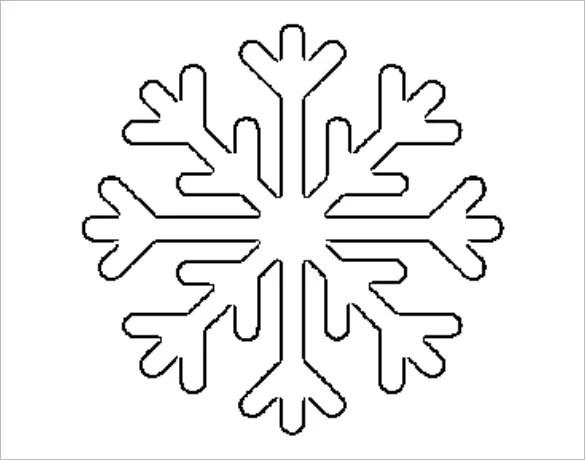 Free Snowflake Templates 17 Free Printable Sample