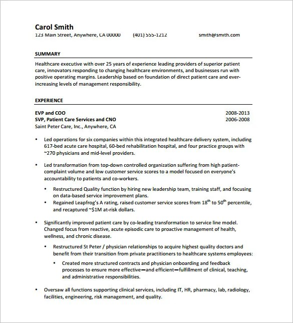 Resume Form Download