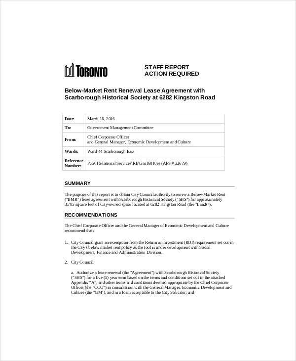Lease Renewal Template - 5+ Free Word, PDF Documents Download - lease extension agreement template