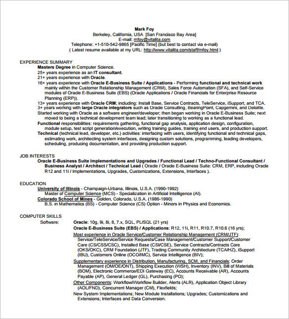 Business Analyst Resume Points Sample Customer Service Resume Job