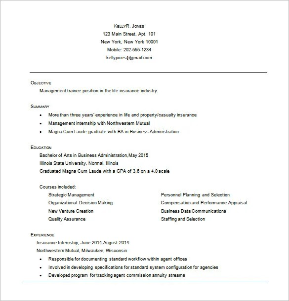 Business Resume Template \u2013 11+ Free Word, Excel, PDF Format Download - Resume In Word