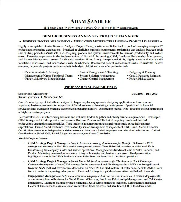 project manager resume templates free project manager resume