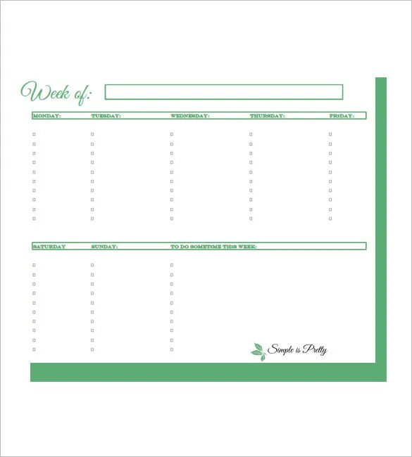 Weekly To Do List Template - 6+ Free Word, Excel, PDF Format - weekly to do list template word