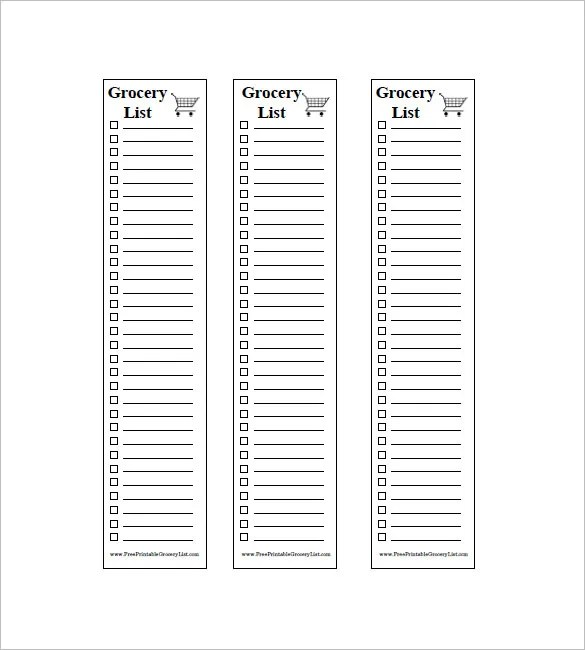 8+ Blank Grocery List Template - Free Word, Excel, PDF Format - list template