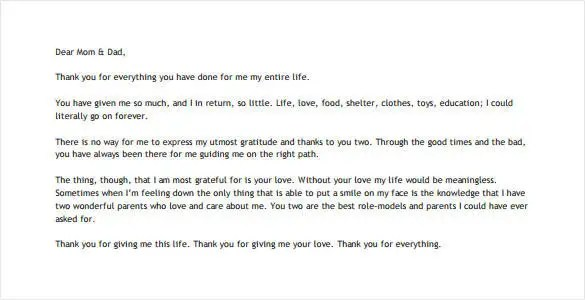 10+ Thank You Letter To Parents - PDF, DOC Free  Premium Templates - thank you letter to parents