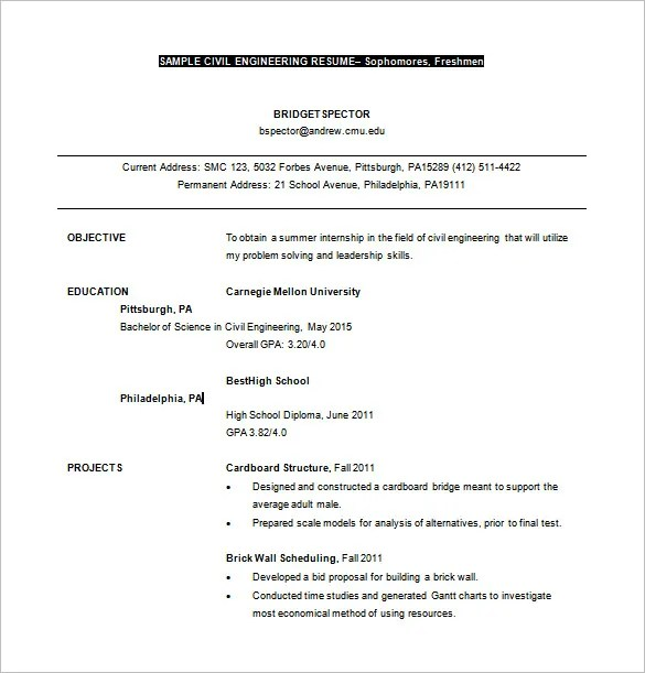 career objective in resume for civil engineer - Onwebioinnovate