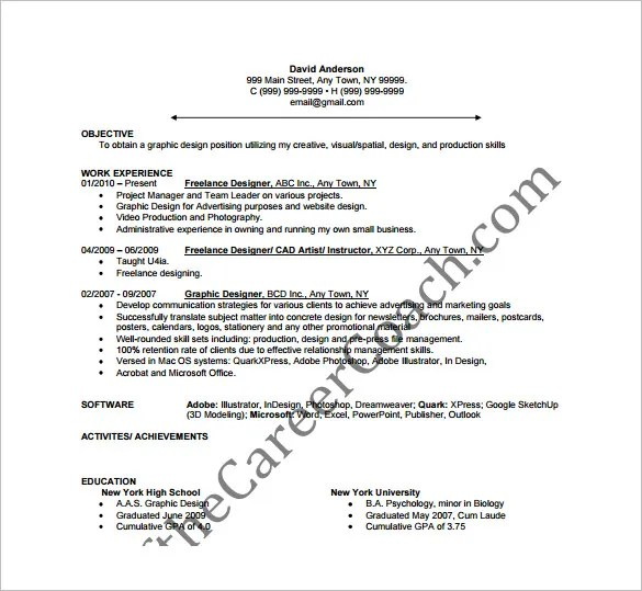 Designer Resume Template \u2013 10+ Free Word, Excel, PDF Format Download - powerpoint designer resume
