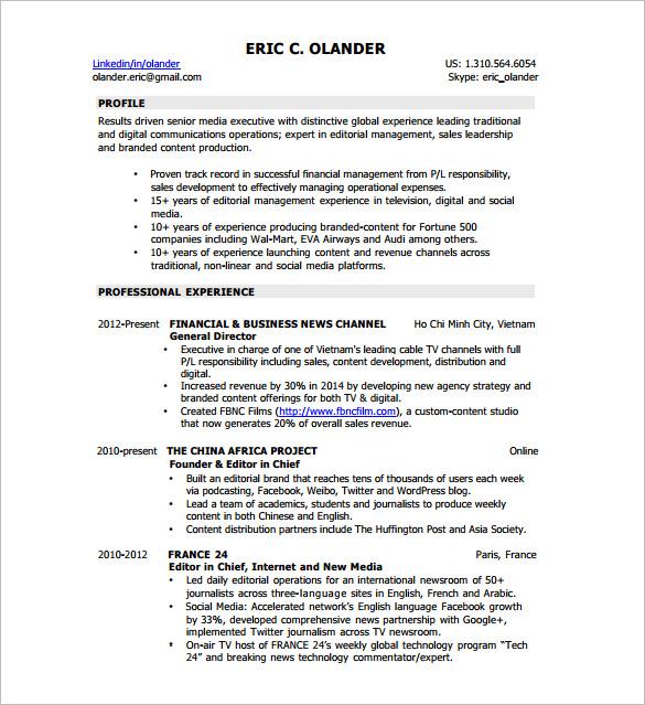 Digital Resume Template - 7+ Free Word, Excel, PDF Format Download