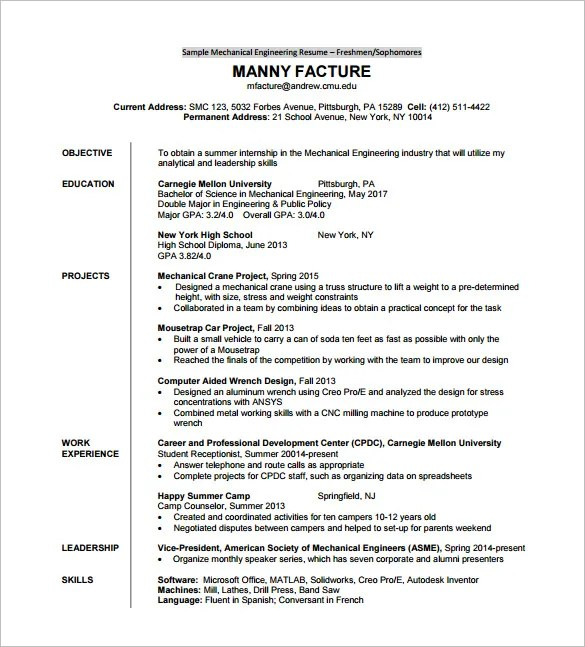 B Tech Freshers Resume Format Blogspot Resume Template For Fresher – 10 Free Word Excel Pdf