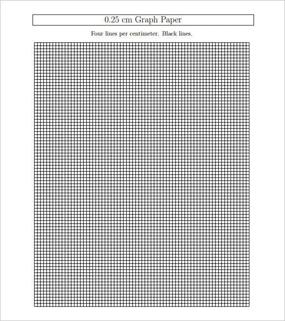 25 cm graph paper