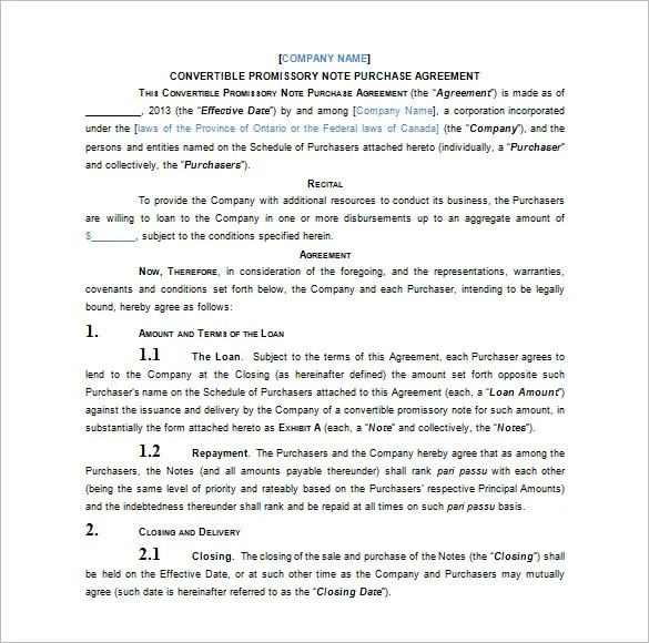 34+ Promissory Note Templates - DOC, PDF Free  Premium Templates - draft promissory note agreement