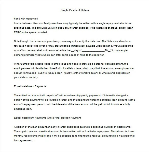 Promissory Note Template - 34+ Free Word, PDF Format Free
