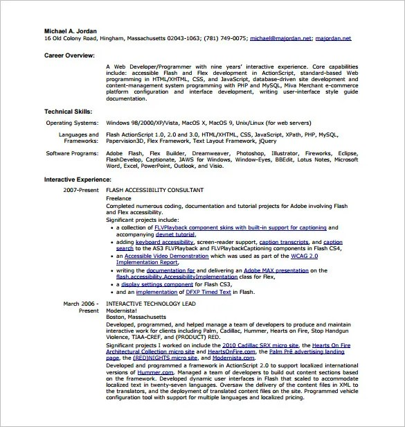 html developer resumes - Ozilalmanoof - Front End Developer Resume