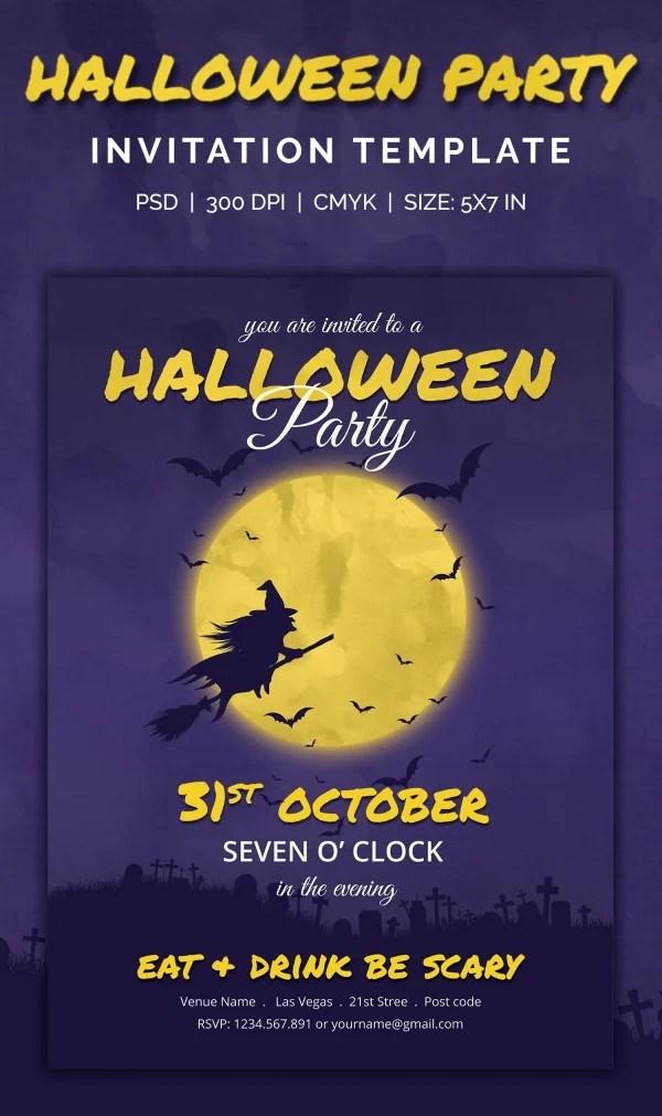 35+ Halloween Invitation - Free PSD, Vector EPS, AI, Format Download - halloween invitation template
