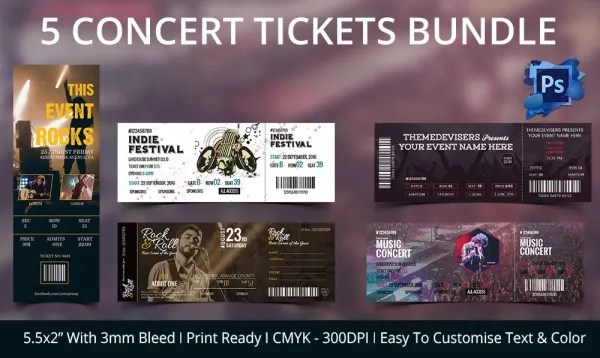 Concert Ticket Invitation Template \u2013 diabetesmanginfo