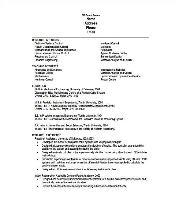 One Page Resume Template \u2013 11+ Free Word, Excel, PDF Format Download - one page resumes