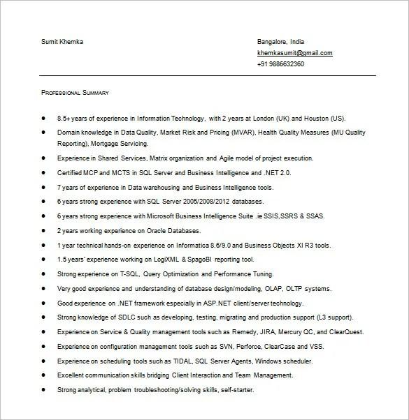 Data Analyst Resume Template \u2013 8+ Free Word, Excel, PDF Format