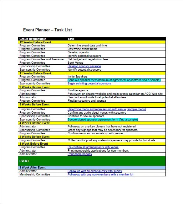 Task List Template - 9+ Free Sample, Example, Format Download