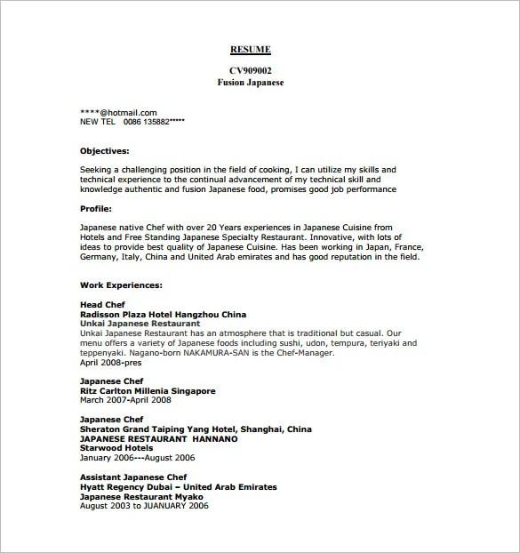 Restaurant Kitchen Resume: Commis Chef Job Description Resume