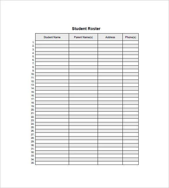 class list template elementary