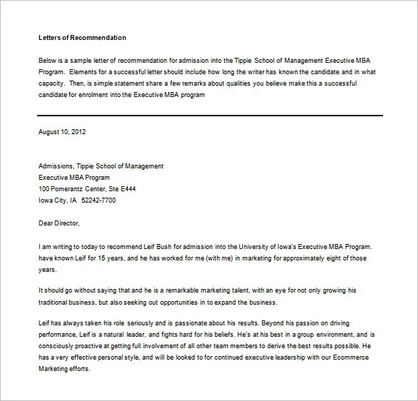 Letters of Recommendation \u2013 33+ Free Word, Excel, PDF Format - recommendation letter examples