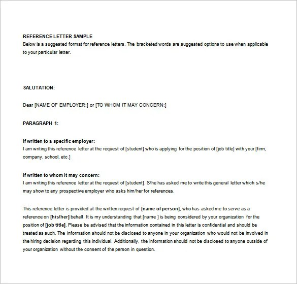 Letters of Recommendation \u2013 33+ Free Word, Excel, PDF Format - free sample recommendation letter from employer