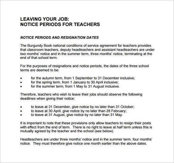 Notice Letter Template - 23+ Free Word, Excel, PDF Format Download - why notice period is important