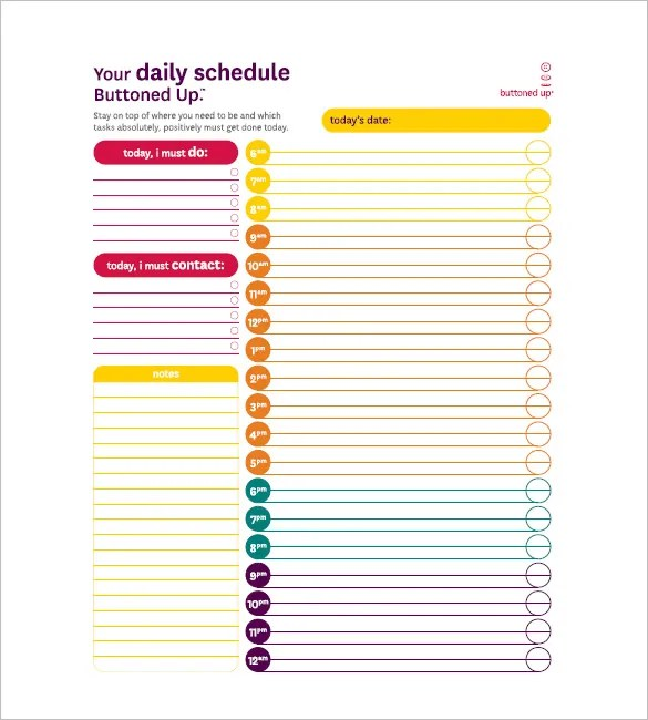 Daily Task List Templates - 8+ Free Sample, Example, Format Download