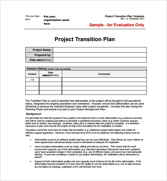 Sample Project Plan Template - 11+ Free Excel, PDF Documents