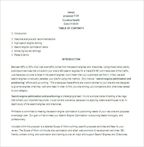 Seo Proposal Template - Costumepartyrun