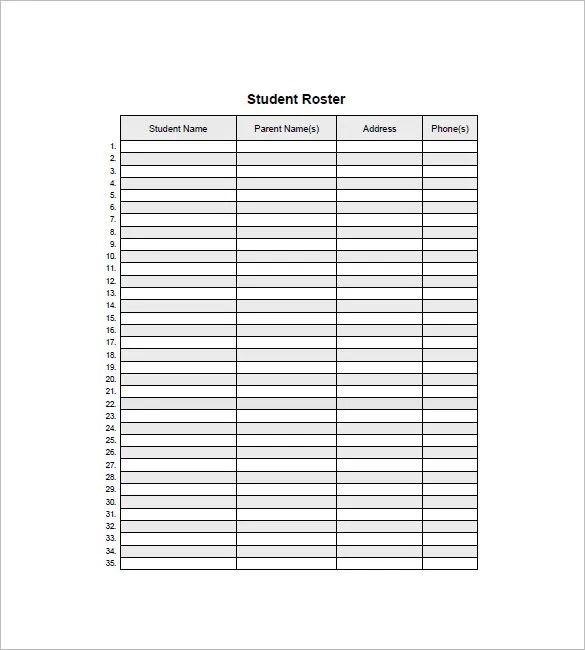 List Templates \u2013 105+ Free Word, Excel, PDF, PSD, Indesign Format - phone roster template
