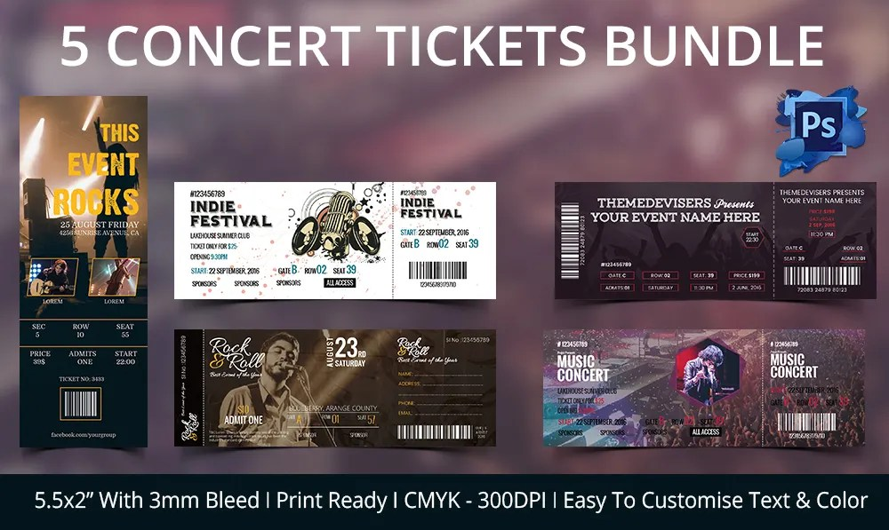 concert ticket invitation template free - Minimfagency