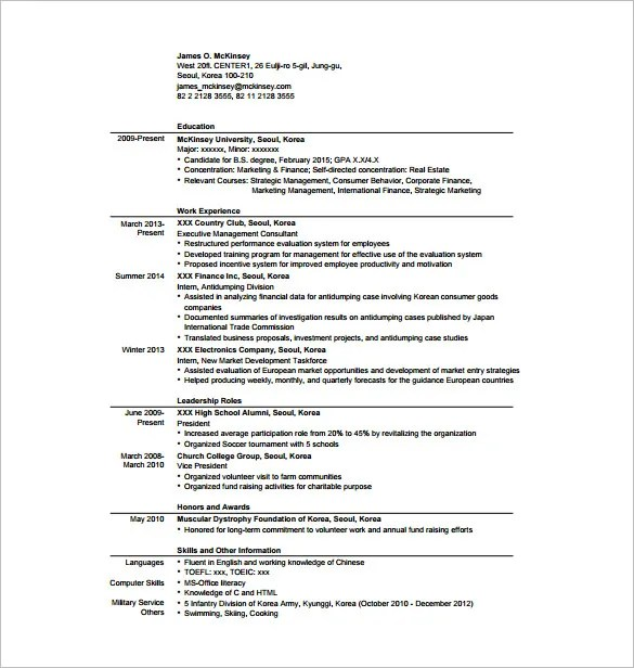 11+ Sample Consultant Resume Templates - Free Word, Excel, PDF - Structure Of A Resume