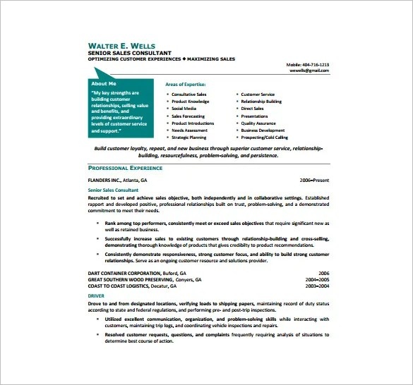 11+ Sample Consultant Resume Templates - Free Word, Excel, PDF - resume of a consultant